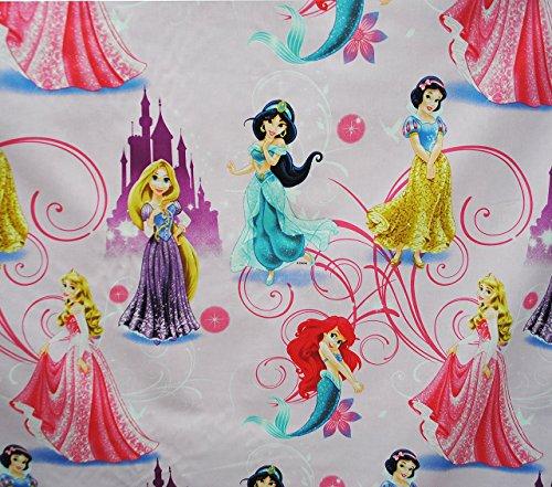 1 m * 1,4 m - Stoff - Disney Princess -  Arielle - Rapunzel - Schneewittchen - Jasmin  - 100 % Baumwollstoff - Stoffe Meterware - Kleiderstoff / Dekostoff /.. ()