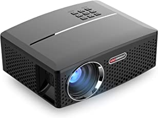 ViviBright GP80 1800LM 1920*1080 HD Home Theater Portable LED Projector with Remote Controller, Support HDMI, VGA, AV, USB Interfaces,Black