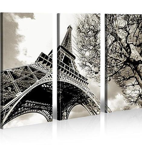 Tour Eiffel Tableau sur Toile Poster Tableaux pour la mur - prêts à poser