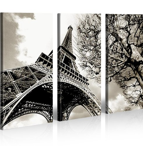 Eiffel Torre Parigi 3 Quadri moderni su tela - pronti da appendere ...