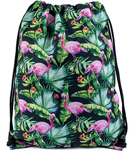 Ladeheid Damen Rucksack LABG05 (Rosa Flamingos-14)