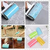 Roller Sticky Fluff Cleaner Carpet Dust Hair Clothes Furniture Remover Brush Washable Reusable Catcher Tool (Color: Random)