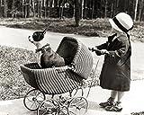 Affiche 24x30 cm Promenade du chien / Walking the dog / Spaziergang mit dem Hund KEYSTONE...