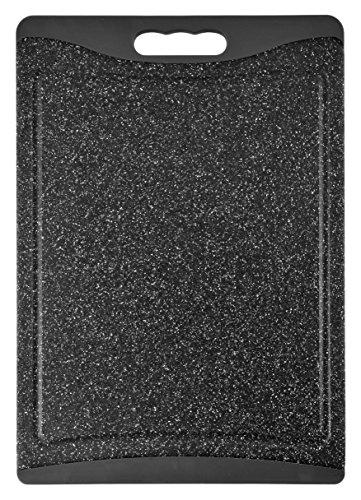 H+H Granit Schneidebrett mit Rutschfester Unterseite, Polypropylen, Grau, 30.5x 43.5x 1cm