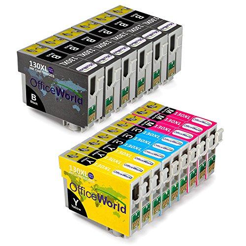 Preisvergleich Produktbild OfficeWorld Ersatz für Epson T1301-T1304(T1306) Tintenpatronen Hohe Kapazität Kompatibel für Epson Stylus B42WD BX525WD BX535WD BX625FWD BX630FW BX635FWD BX925FWD BX935FWD SX525WD SX535WD SX620FW Workforce WF-3010DW WF-3520DWF WF-3540DTWF WF-7015 WF-7515 WF-7525