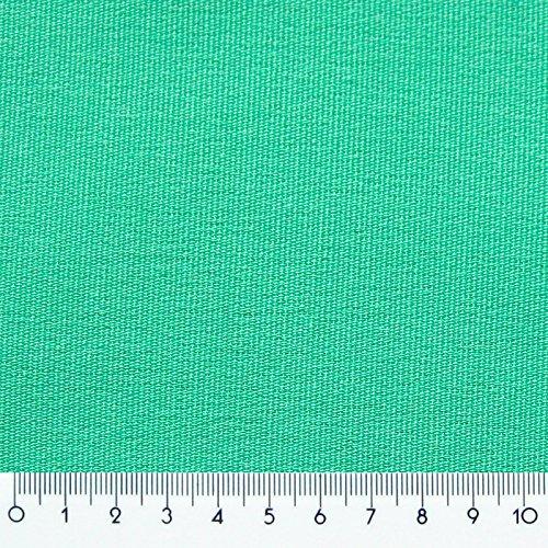 Donet Dekostoff Meterware Gardine Vorhang Stoff mit Leinenstruktur, Mint (Polsterstoff Vorhang)