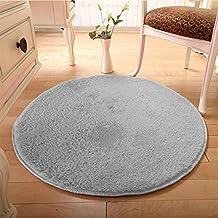 Alfombras redondas Shaggy y alfombra moderna de la manera Alfombra lavable de la sala de estar del dormitorio suave de la alfombra por GOMNEAR (gris)