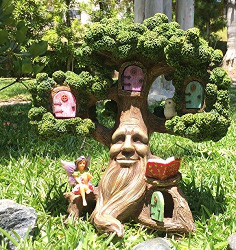 Gnome In Garden: Fairy Garden Enchanted Joshua's Miniature Tree (10.5 Inch
