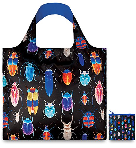 WILD Birds Bag: Gewicht 55 g, Größe 50 x 42 cm, Zip-Etui 11 x 11.5 cm, handle 27 cm, water resistant, made of polyester, OEKO-TEX certified, can carry up to 20 kg Strawberries