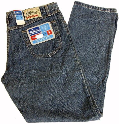 FALMER M40 Herren Jeans Regular Fit Zip Fly in Dunkelblau, Blau Stonewashed, Schwarz oder Beige Stone