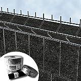 Design Vlies Sichtschutz Streifen für 3D Gitterstabmatten Zaun - PVC frei (Milano)