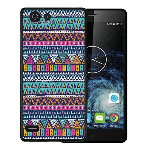 WoowCase Elephone S2 Hülle, Handyhülle Silikon für [ Elephone S2 ] Azetikischer Stamm Handytasche Handy Cover Case Schutzhülle Flexible TPU - Schwarz