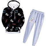 Conjunto de sudadera con capucha y pantalones para niña TIK Tok, unisex, ropa para niños