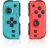 Joy Con Controller Compatible with Nintendo Switch, Wireless Controllers Compatible with Switch Joy Pad with Wake Up, NFC, Tu