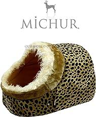MICHUR LEO TIGGER, Katzenhöhle, Katzenkissen, Hundehöhle, Hundekissen, Hundebett, Katzenbett, SOFT, in verschiedenen Größen erhältlich