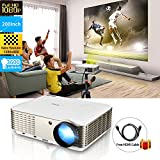 Wikish High Resolution Hd LCD Multimedia Home Theater Video Projector With Hdmi Cable, Support 1080p