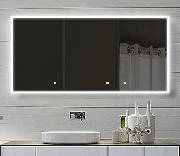 alu badschrank badezimmer spiegelschrank bad led beleuchtung 140 x ... - Led Beleuchtung Badezimmer