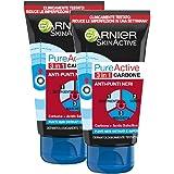 Garnier SkinActive, Trattamento anti punti neri 3 in 1 Carbone PureActive, Pelli grasse e punti neri ostinati, Confezione da