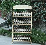 ZHDC® Solido rack di legno vino rosso pino Vino mensola del vino Display Stand espositivo in legno Multifunction