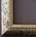 Bilderrahmen Silber - 50 x 90 cm als Leerrahmen - Antik, Landhaus - Alle Größen - Handgefertigt - Galerie-Qualität - LR - Turin 4,0