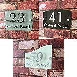 Cartello per casa in materiale acrilico di qualità, con numero civico e nome della via