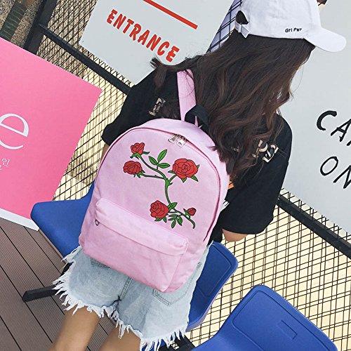 Pomineer , Damen Rucksackhandtasche mehrfarbig rose rose