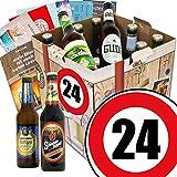 Geschenk Ideen zum 24. für Männer- Biergeschenk-Box mit Bieren aus Deutschland | INKL Bierbuch, GRATIS Geschenk Karten und Bier-Bewertungsbogen | Biergeschenk und Bierset | Individuelle Geschenk-Box - 24 | Biergeschenke für Männer | Besser als Bier selber machen oder selbst brauen Geniales Geburtstagsgeschenk Geburtstagsbier für den Mann Geschenkidee für Männer lustige Geschenke Geburtstagsgeschenk Freund zum 24. Geburtstag Geschenkideen zum 24. Männergeschenk zum Geburtstag