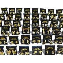Pendiente con tuerca 48 pares diferentes diseños piedras cuentas de plástico de imitación base dorada joyería accesorios
