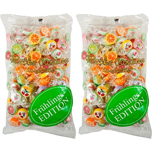 Preisvergleich Produktbild Sweet Stories Rocks Candies Mix Bunt 500g im Beutel Lutsch-Bonbons (2er Pack)