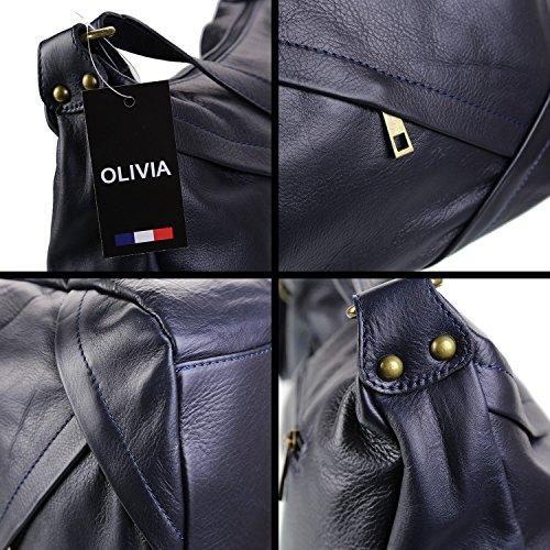 OLIVIA, Borsa a mano donna Blu marino Bleu marine Bleu marine