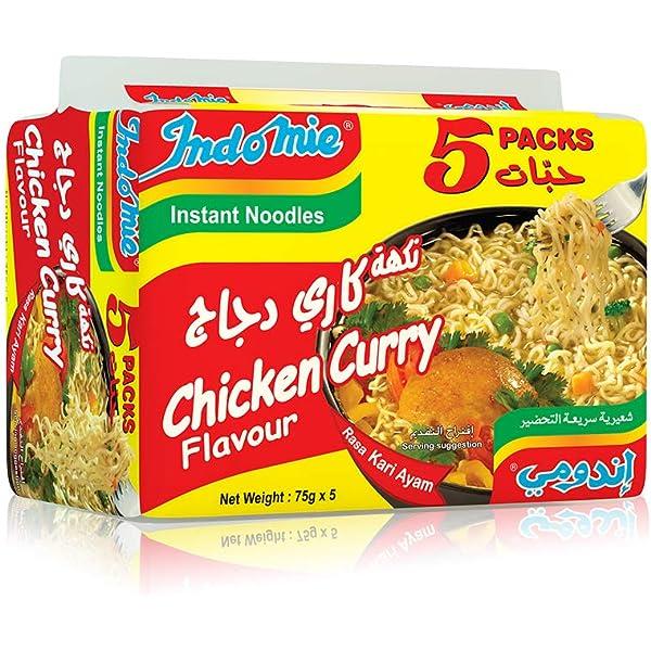 اشتري اونلاين بأفضل الاسعار بالسعودية سوق الان امازون السعودية مجموعة علب من اندومي بنكهة كاري الدجاج عبوة من 5 قطع