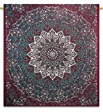 Handicrunch Wall hanging tapestry, Mandala Wall decor Beautiful Light pink hippie Elephant Printed Wall Hanging