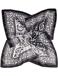 DAMILY Femmes Mode Paisley Bandana Foulard Grand Satiné Carré Foulards  Cheveux Tête Echarpes Châle da8691eef16