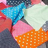Stoffreste Tasche 100g Polka Dots Spots Dots Bundle für