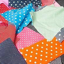 Restos de tela bolsa 100g lunares, lunares Bundle para Off Cuts de polialgodón Craft restos