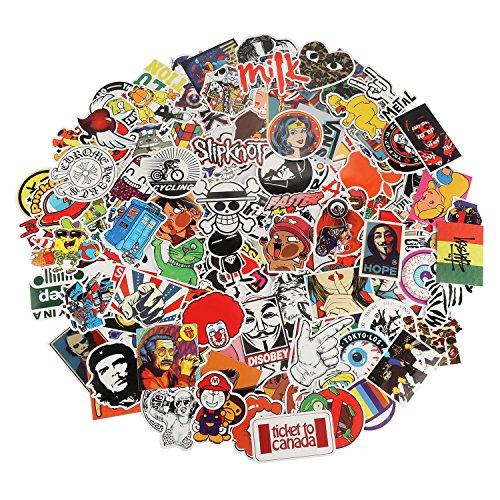Xpassion Autoadesivi Auto Pack 200pcs Autoadesivo Decalcomania Parabrezza per MacBook Moto Bicicletta Bagagli Graffiti Patch Skateboard Snowboar iPhone PS4 Xbox One Interruttore Nintendo e più