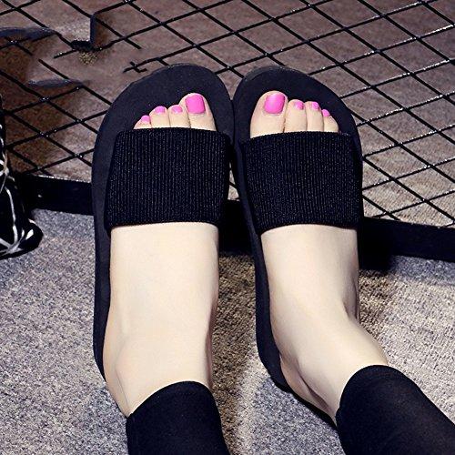 Estate Sandali Pattini freddi piani estivi di estate Tempo libero Scarpe da spiaggia antiscivolo per le donne (18-40 anni) Colore / formato facoltativo 1002