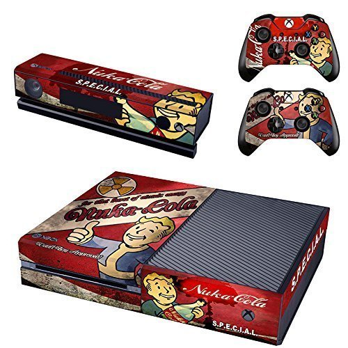 Designer Skin Sticker for the Xbox One Console With Two Wireless Controller Decals - Fallout 4:Nuka Cola