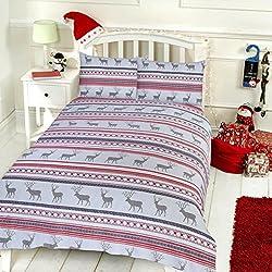 Pieridae CARLINO de Navidad y de funda de edredón y funda de almohada Set ropa de cama Impresión digital diseño de ciervo Caso cama dormitorio sofá, ciervo, suelto