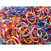 1200 RAINBOW COLOUR LOOM FRENDSHIP RUBBER BANDS WITH S CLIPS AND HOOK
