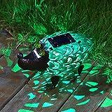 Takemeuro Solarleuchten Statue Outdoor Decor, Niedliche Igel Solar Licht Figuren Deko Metall Warm Weiß LED Deko Lichter für Terrasse, Rasen, Party
