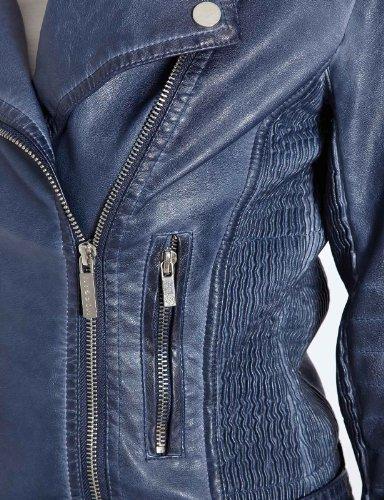 Morgan - Veste en Similicuir - Manches longues - Femme Bleu (Bleu Jean)