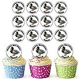 Ferme Canard 24personnalisé comestible pour cupcakes/décorations de gâteau d'anniversaire–Facile prédécoupée + Cercles...
