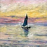 Posterlounge Stampa su acrilico 50 x 50 cm: Sailboat evening di Claude Monet/Bridgeman Images