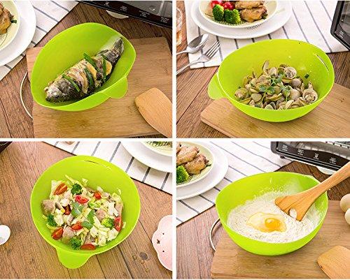 Hanseatic Consumables 24x20x9cm Silikon Brotbackform Salatschale 100 % BPA freies Lebensmittelsilikon Antihaftbeschichtet zum backen wiegen kneten Geschmacksneutral 2 Jahre Garantie