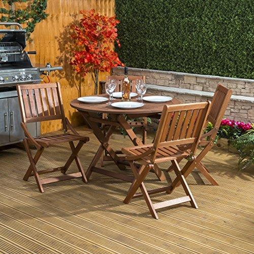 Sienna Wooden Round Garden Furniture Dining Set