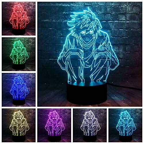 Zcmzcm 3D Nachtlichter 3D Led Comics Thema Cooles Bild Kreative Cartoon Nachtlicht Usb Stimmung Glanz Urlaub Freunde Geschenk