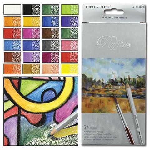 Raffin & 233; Aquarell Bleistifte Set von 24sortierte Farben