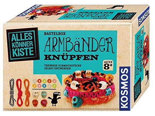 Kosmos 604158 - AllesKönnerKiste, Armbänder knüpfen - Mädchen Spielen Schmuck-set