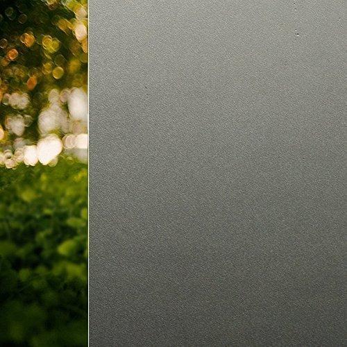 Rabbitgoo Sin Pegamento Pegatina Translúcida de Ventana Vinilo Decorativo Adherencia Electrostática Pegatina Deslustrada Color Negro 44.5cm*200cm